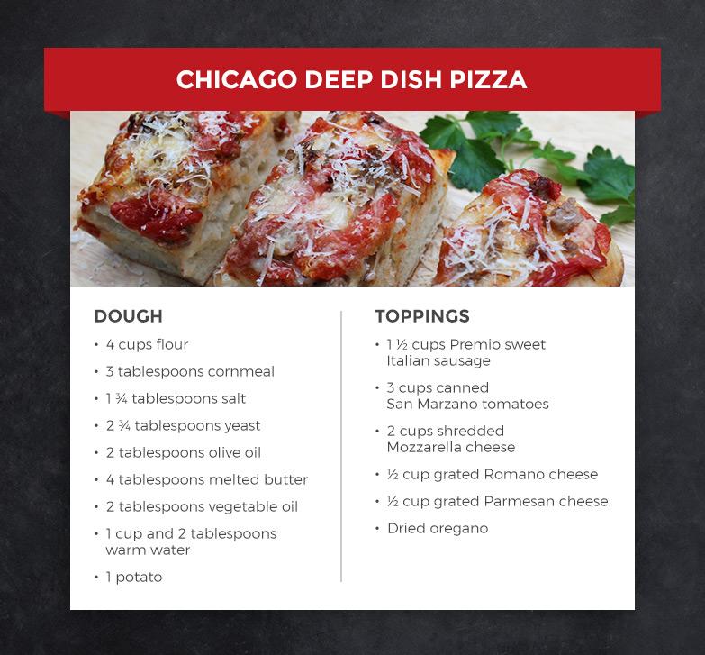 Premio deep dish pizza