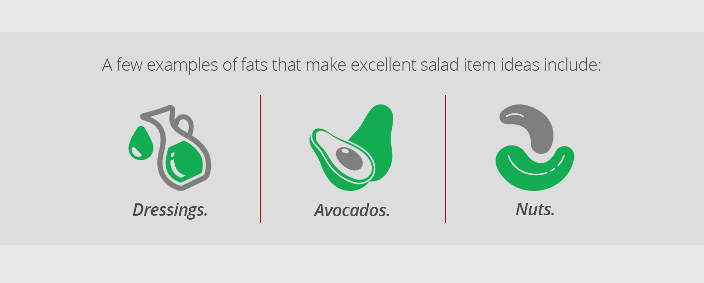 Types of Fats to add to your salad