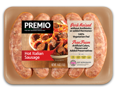 Premio Hot Italian Antibiotic Free Sausage
