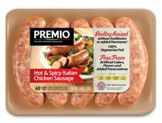 Premio Antibiotic Free Hot & Spicy Italian Chicken Sausage
