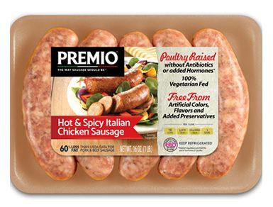 Premio Antibiotic Free Hot & Spicy Italian Chicken Sausage