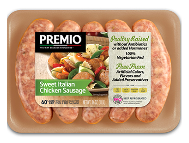 Premio Antibiotic Free Sweet Italian Chicken Sausage
