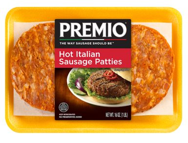 Premio hot italian sausage patties