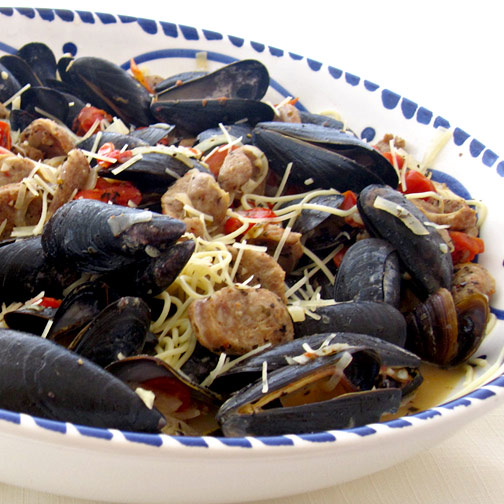 Chorizo Dinner with Clams