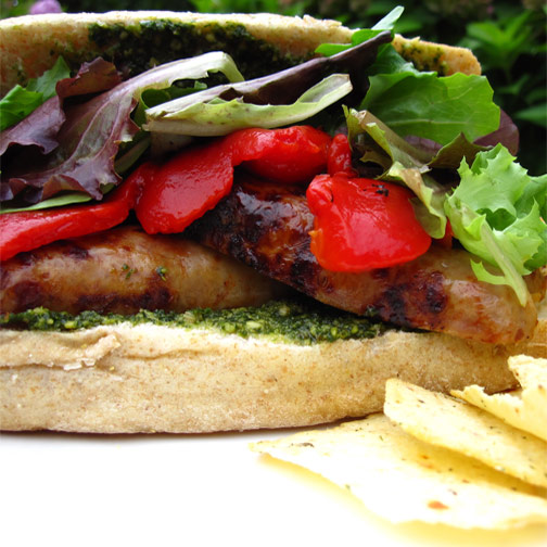 Backyard Grilled Sausage Sandwich