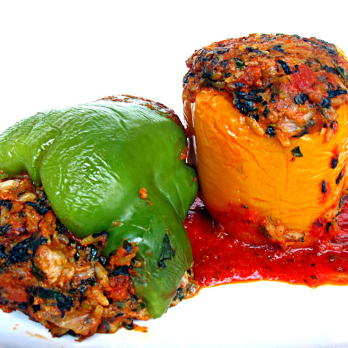 Sweet Sausage Stuffed Peppers