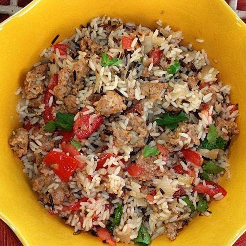 Chorizo Skillet Rice