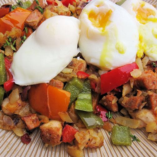 Eggs and Sausage Hash