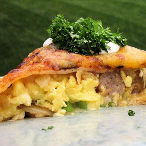 Breakfast Burrito with Premio Sausage