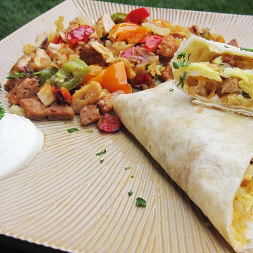 New Mexico Style Breakfast Burrito