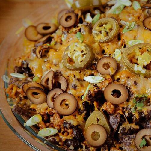 sausage nachos