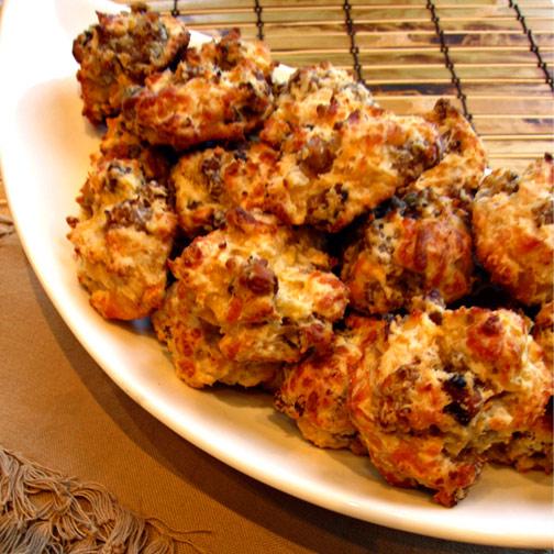 Cheesy Sausage Puffs