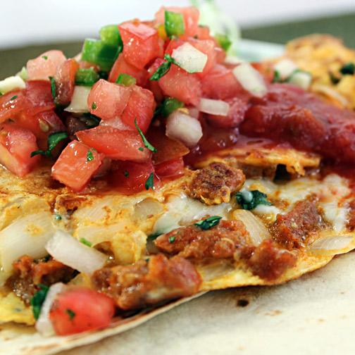Chorizo Huevos Rancheros Omelet