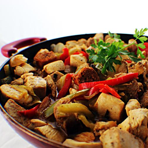 Sausage and Chicken Scarpariello