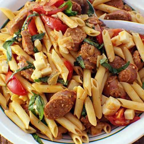 Premio fresh sausage pasta salad