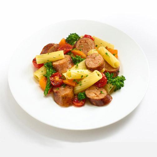 sweet chicken sausage pasta