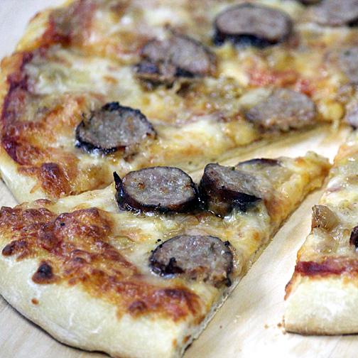 Premio sausage pizza