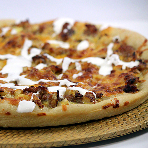 sausage brunch pizza
