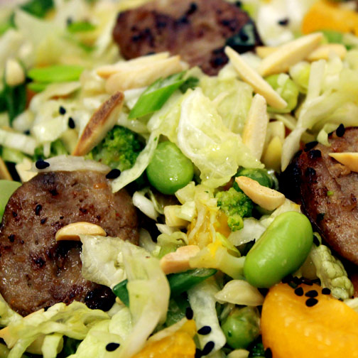 Asian style winter sausage slaw