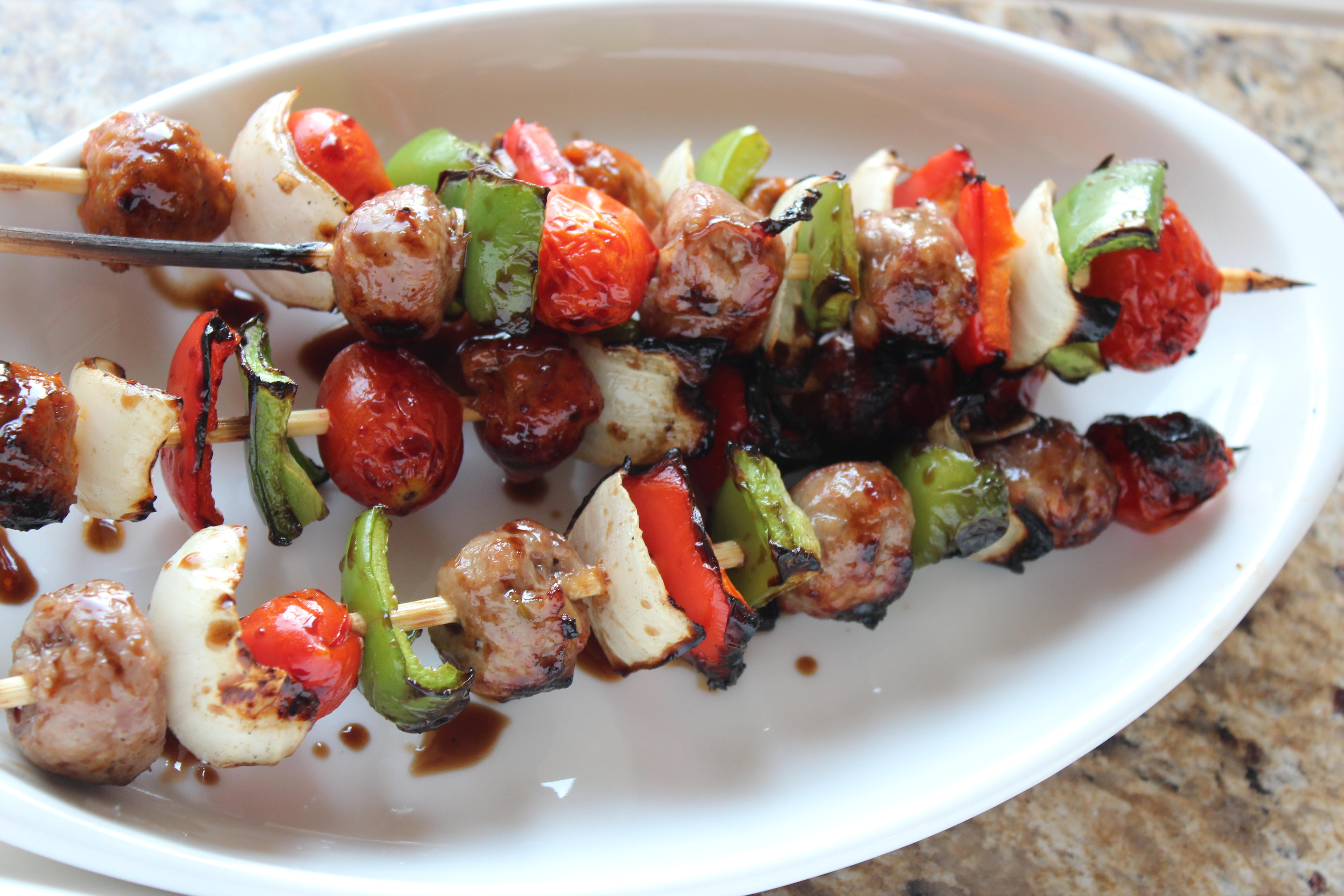balsamic glazed kebabs