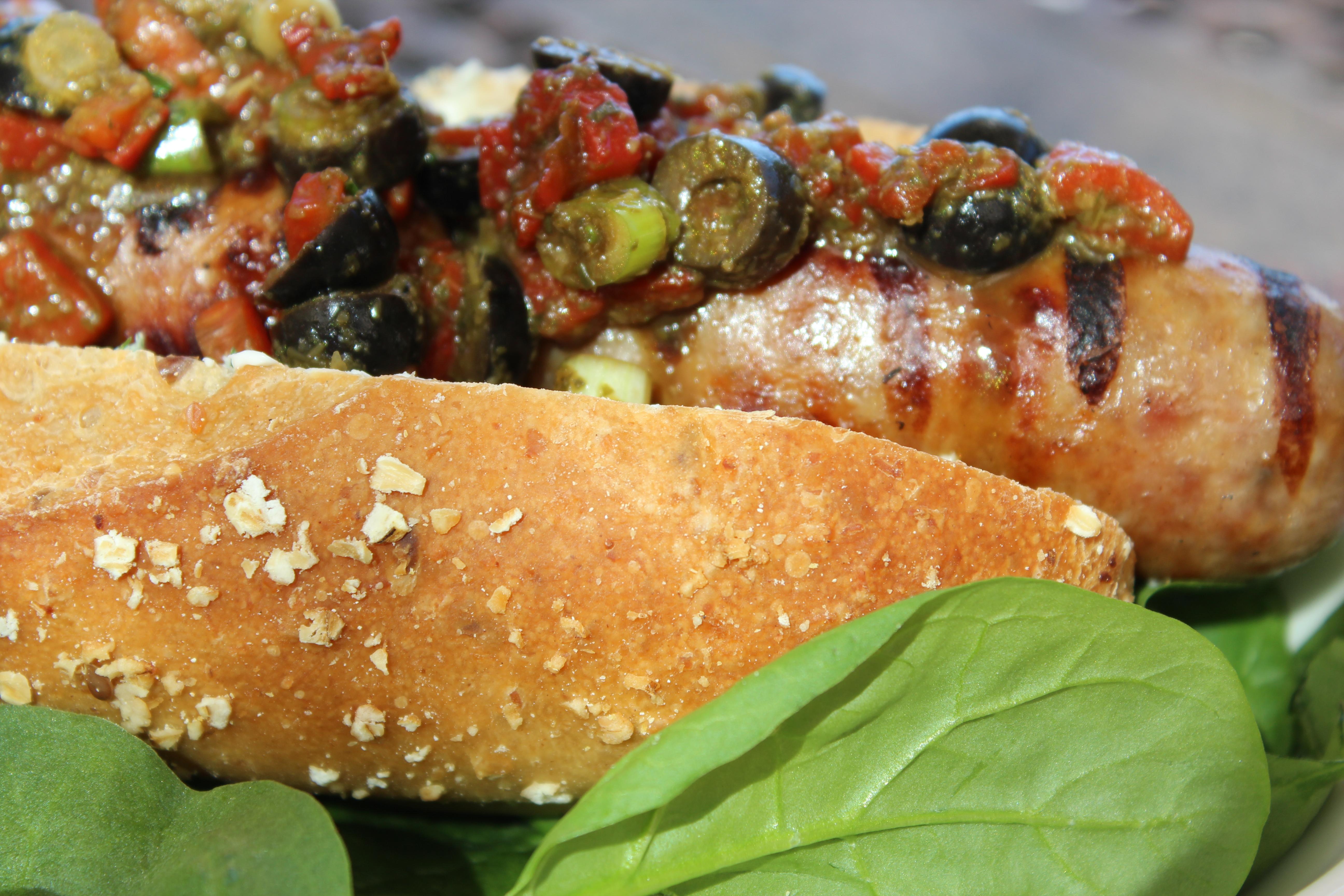 sausage with veggies