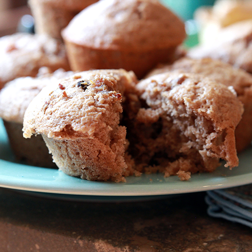 apple spice sausage muffins