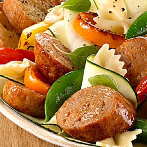 Sausage Farfalle with Mixed Vegetables