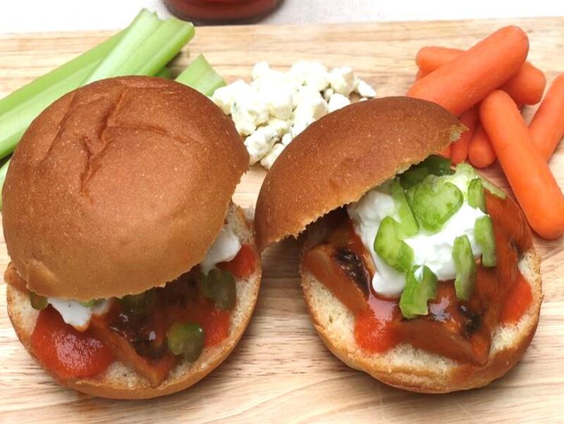 Buffalo Chicken Sausage Sliders