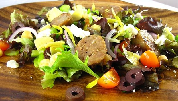 Grilled Grecian Sausage Salad