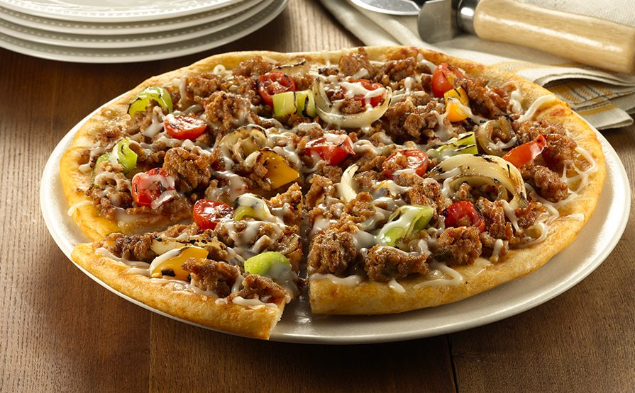 Hot Italian Sausage Meat Pizza