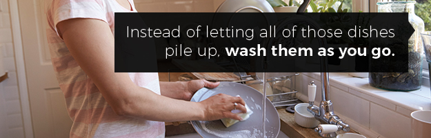 Wash Dishes As You Go