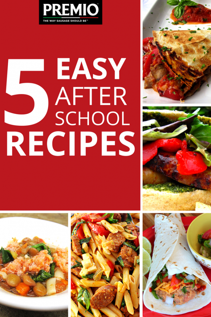 5 easy after school recipes