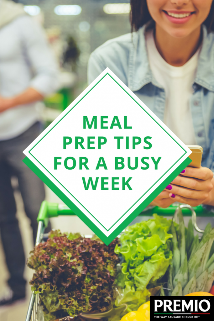 meal prep tips for a busy week