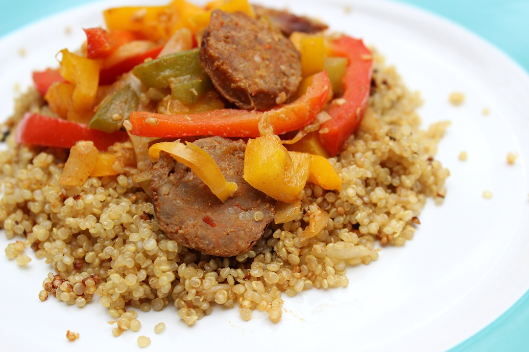 Quinoa with Premio Sausage and Peppers