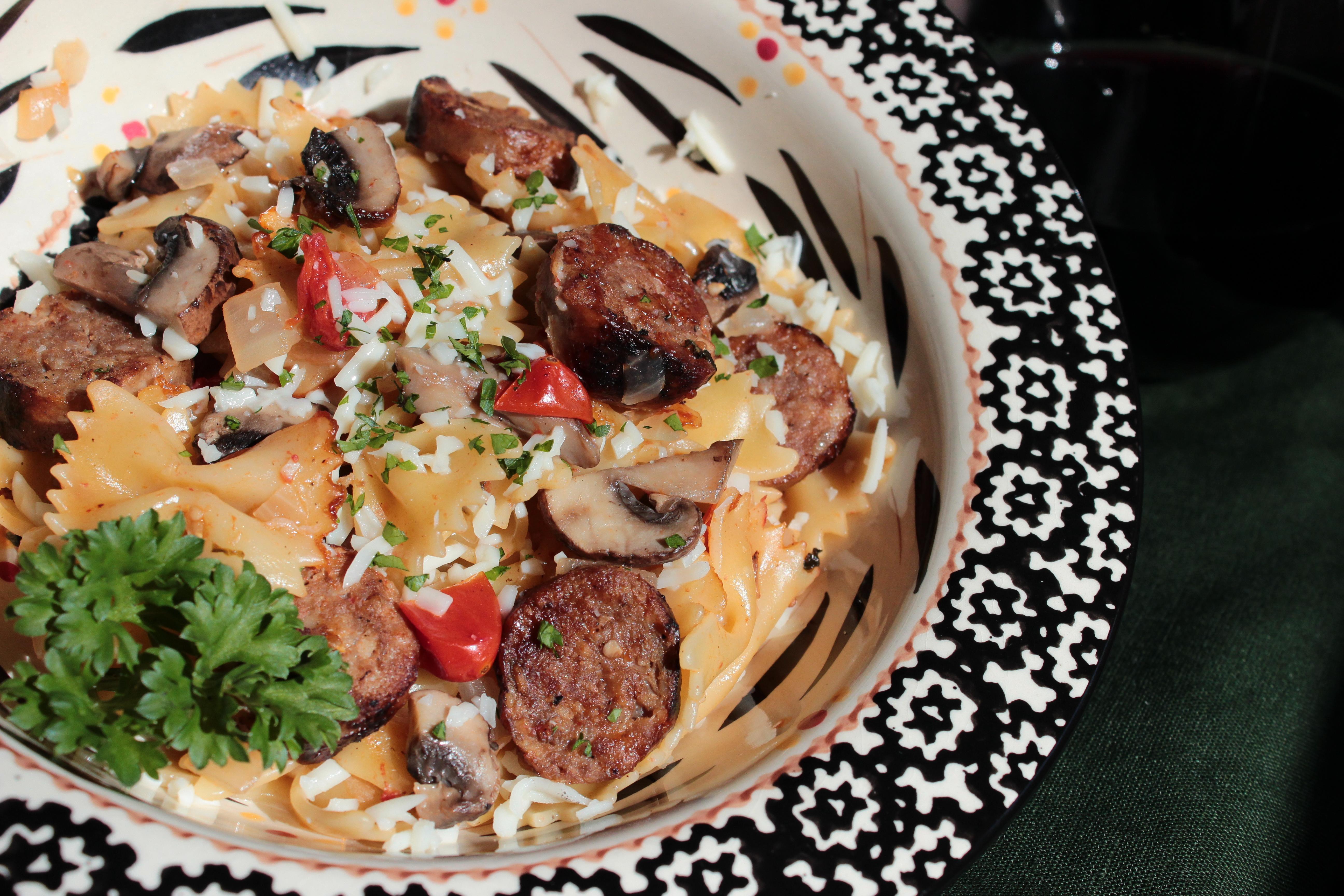 One-Pot Sausage & Mushroom Pasta
