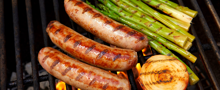 Sausage and Vegetables on the Grill