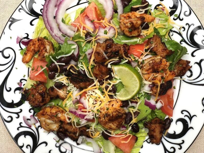 Chicken Sausage & Shrimp Taco Bowls