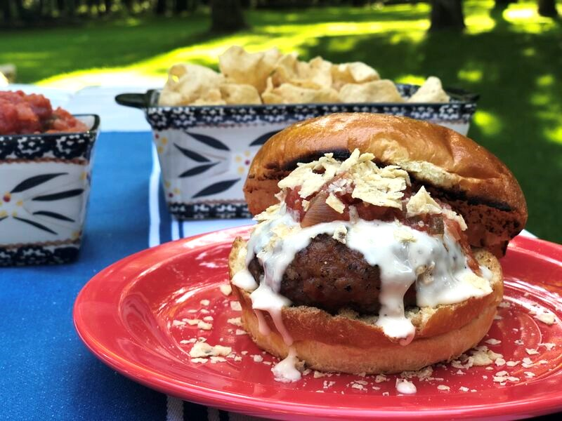 Sausage & Nachos Burger