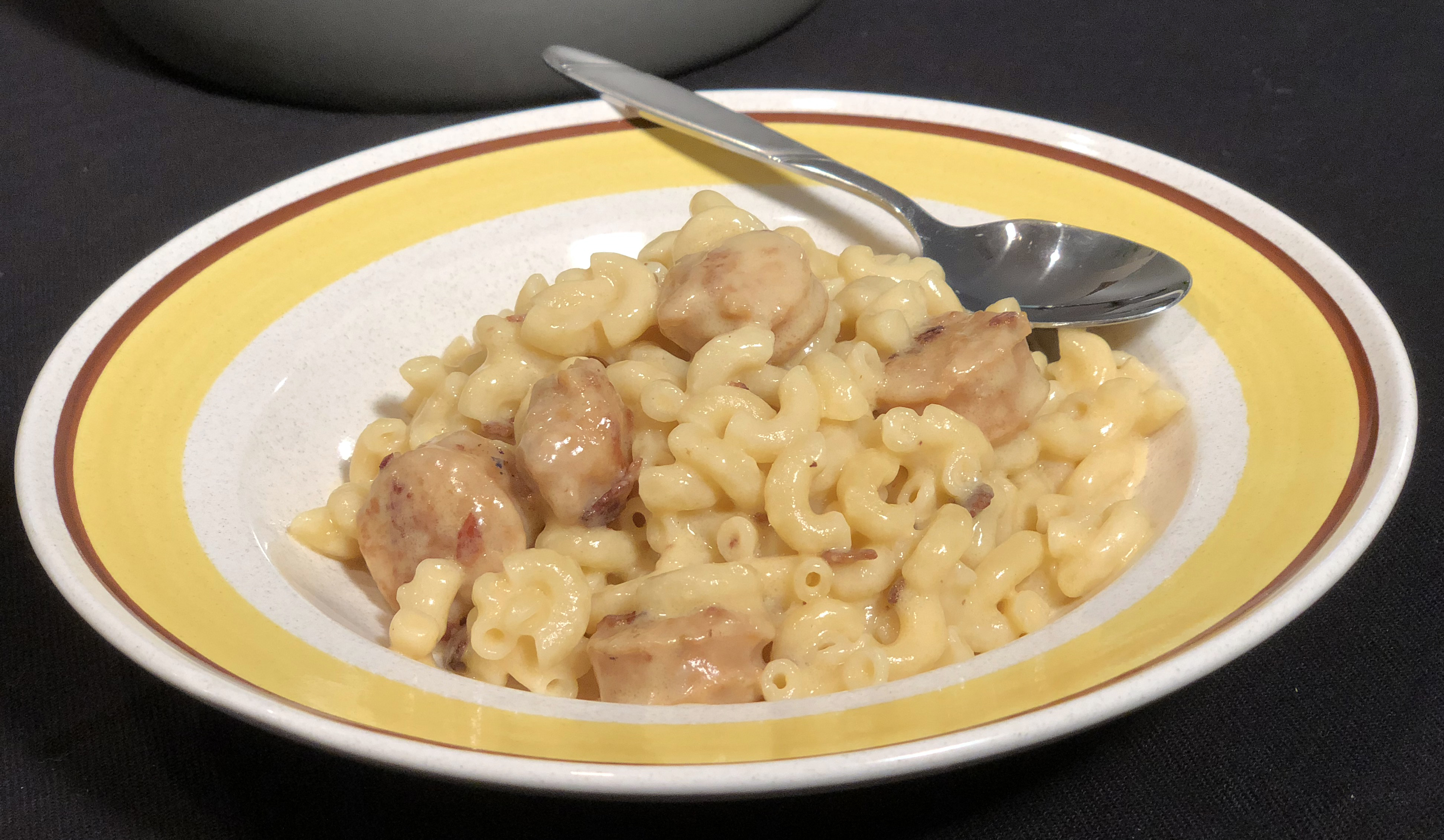 Bacon and Sausage Mac n Cheese