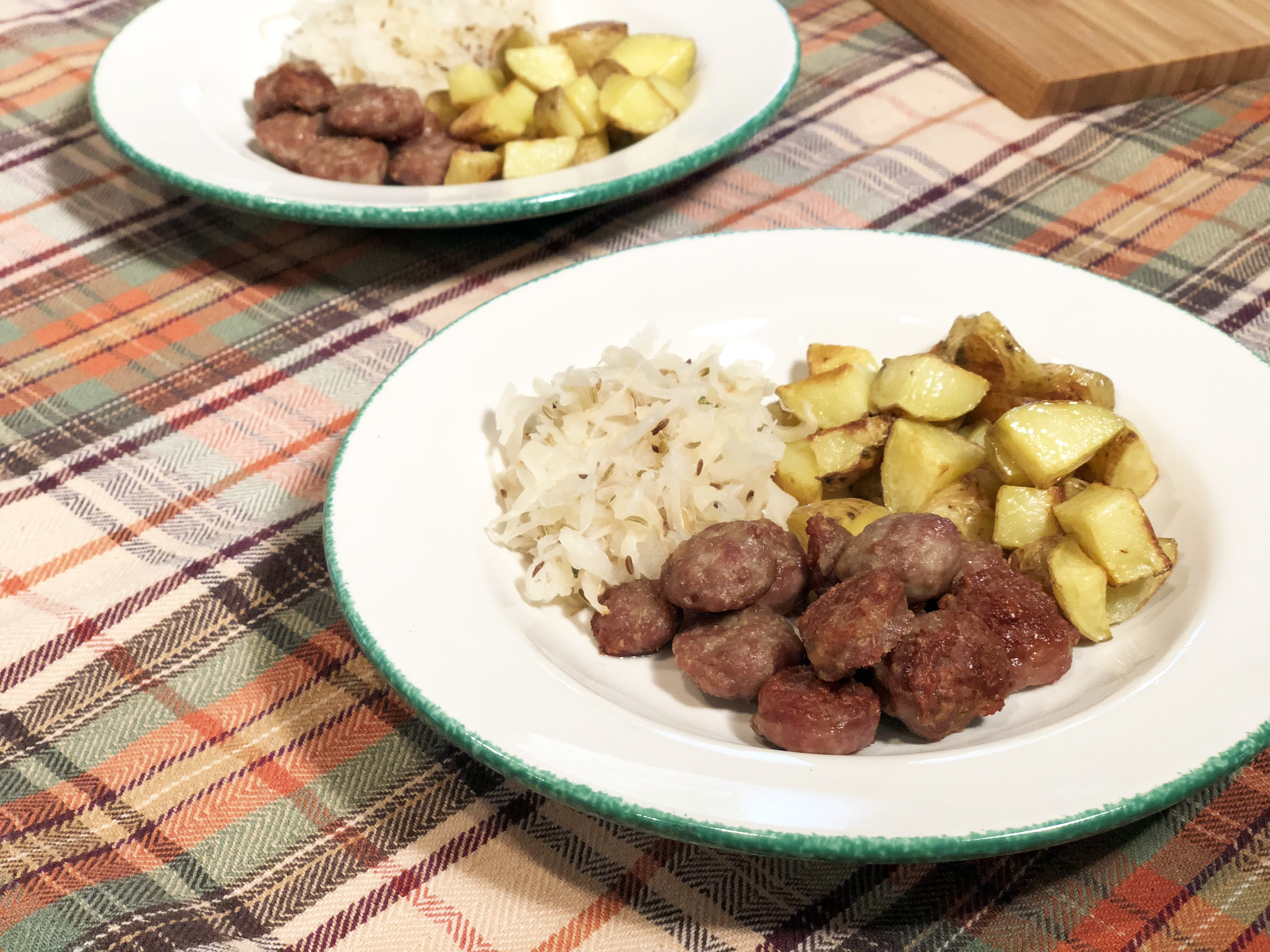 Bratwurst and Sauerkraut Sheet Pan Dinner