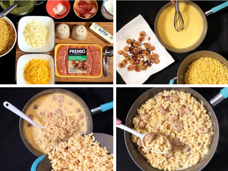Bacon and Premio Sausage Mac n Cheese Recipe Steps