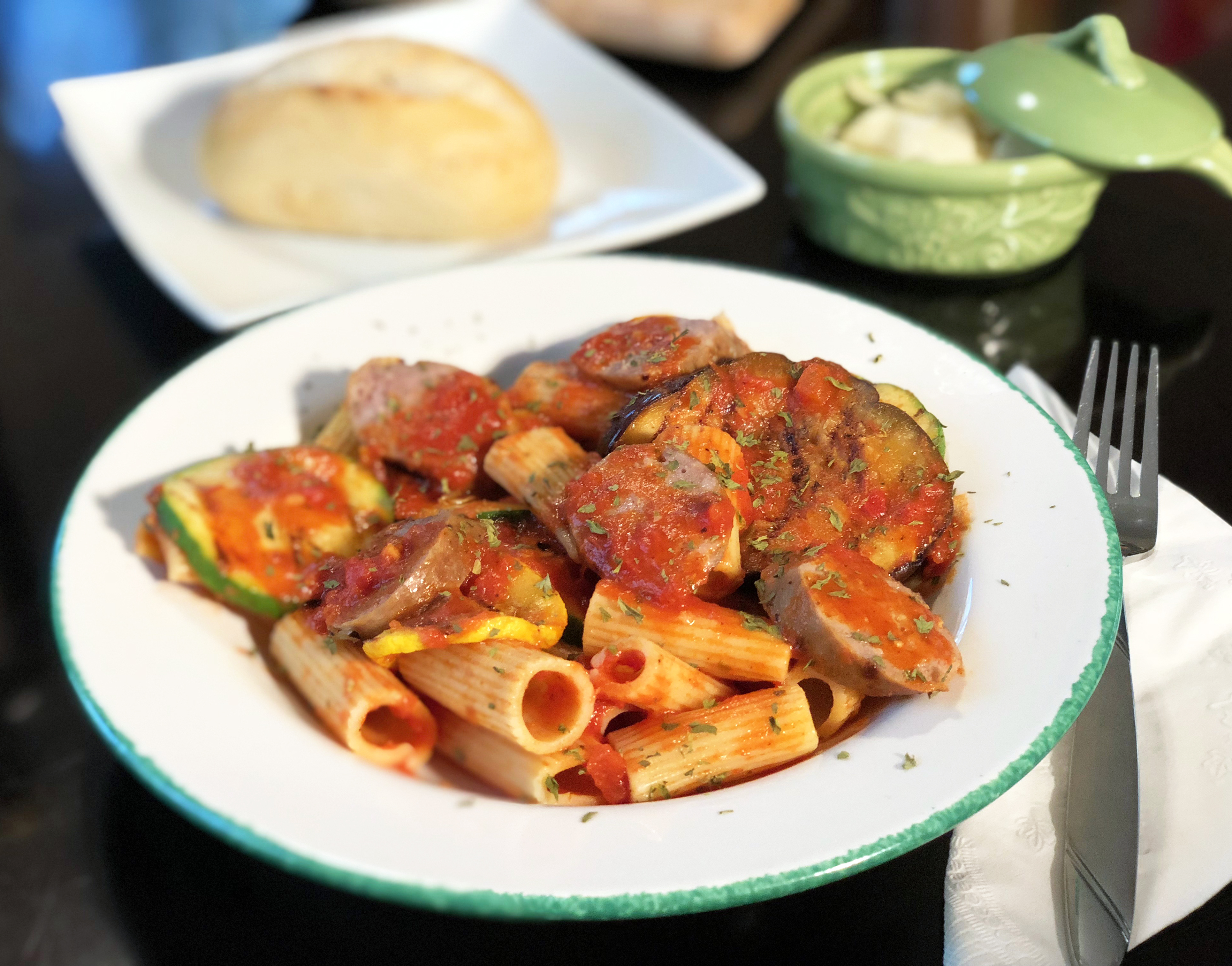 Grilled Vegetable and Premio Sausage Rigatoni