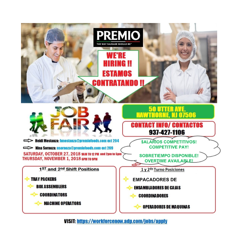 Premio We're Hiring Flyer