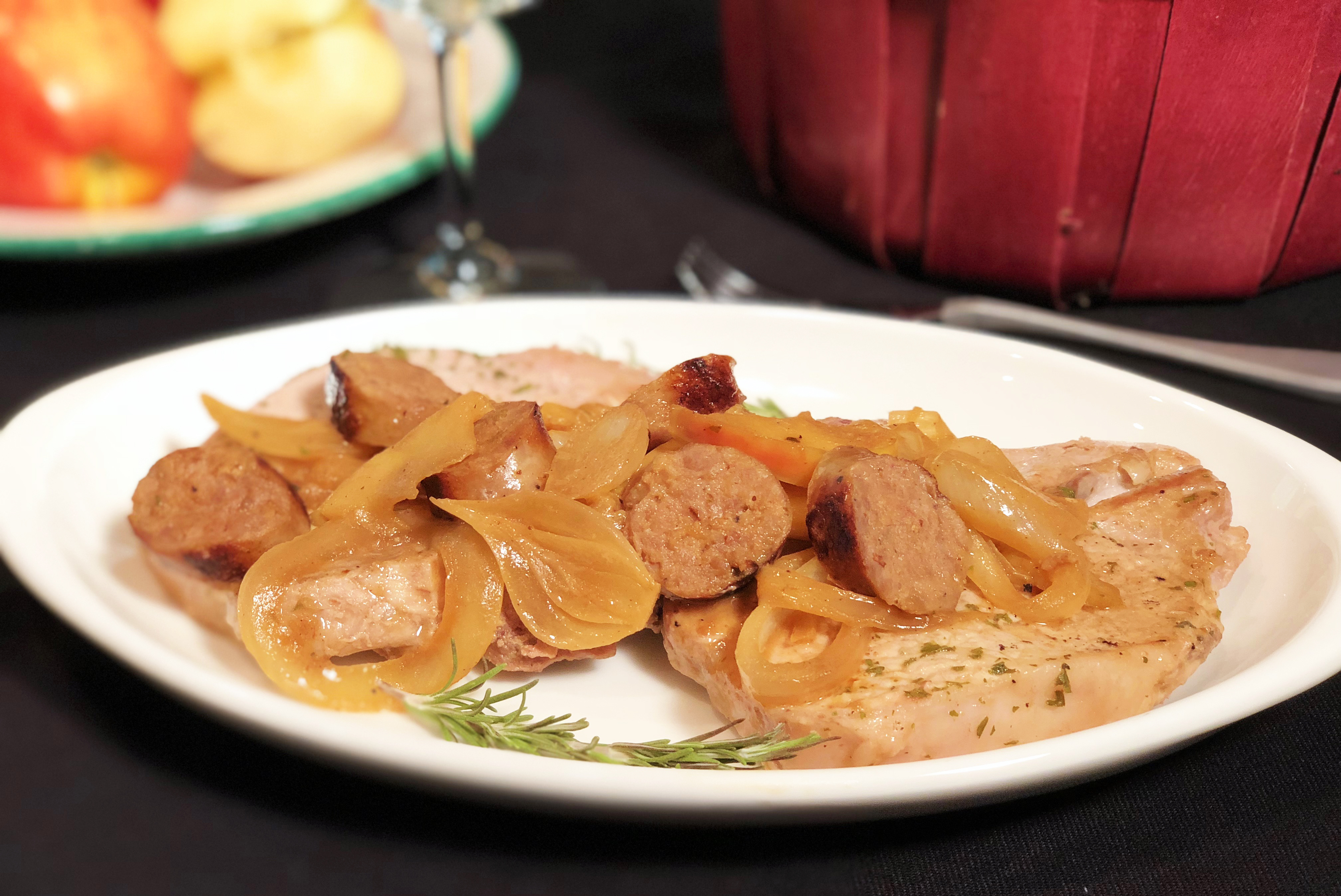 One-Pan Pork Chops With Premio Sausage and Apples