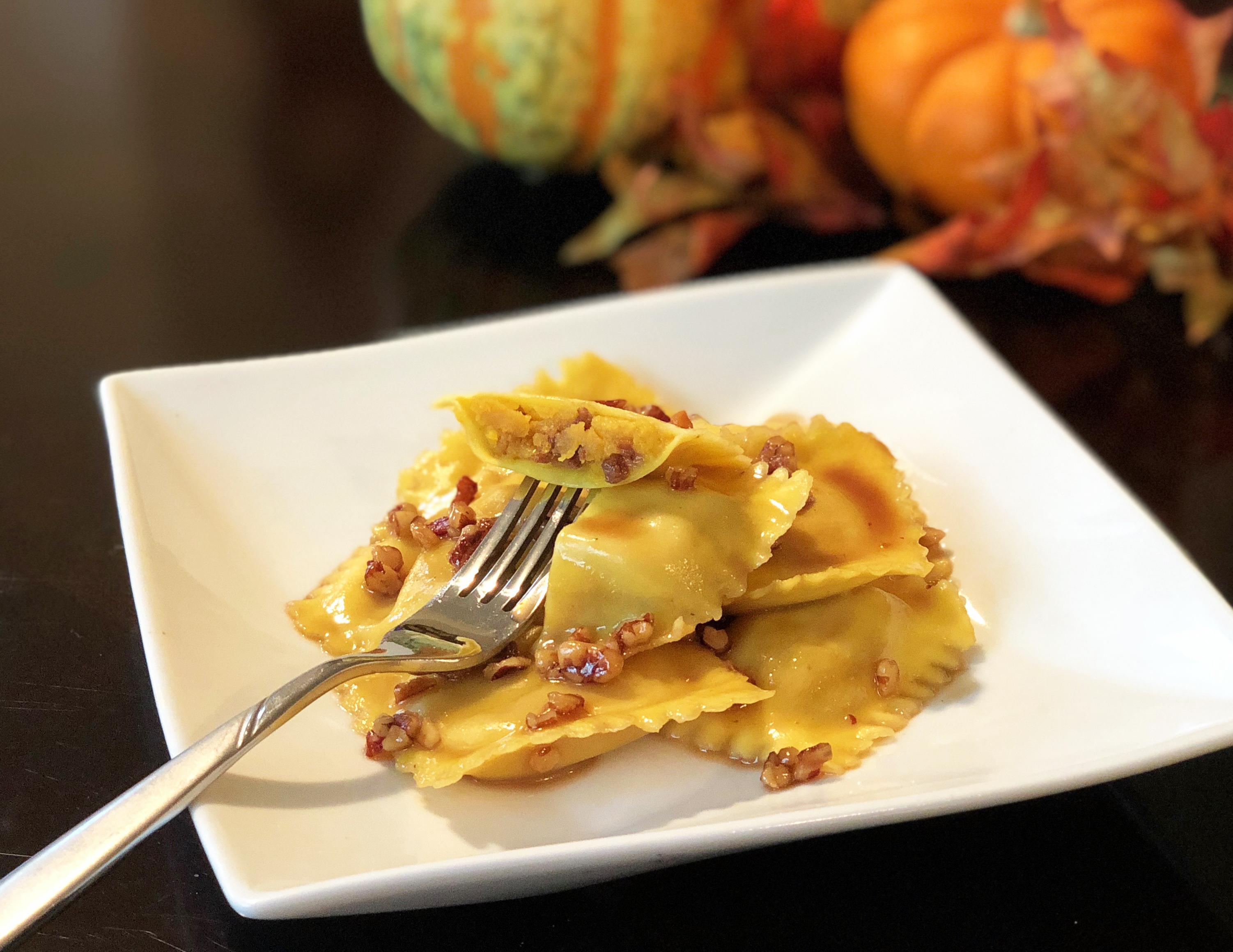 Pumpkin Filled Ravioli