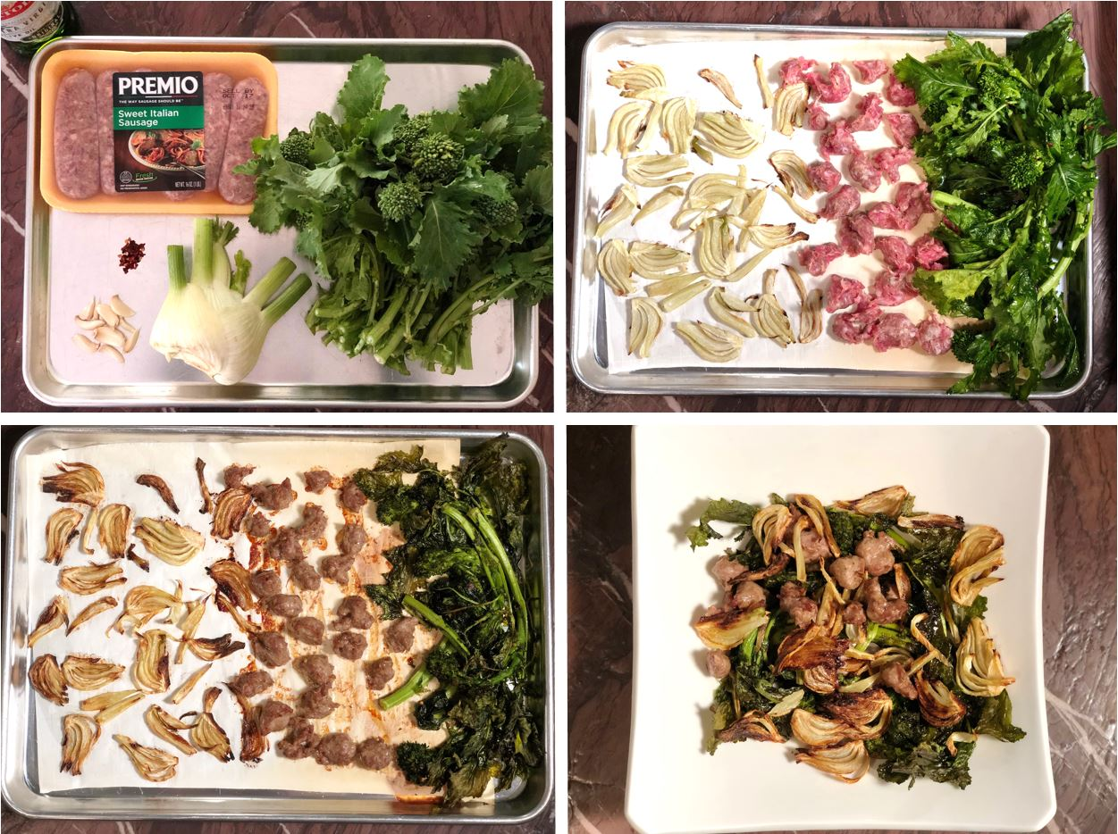 Premio Sausage and Broccoli Rabe Sheet Pan Dinner