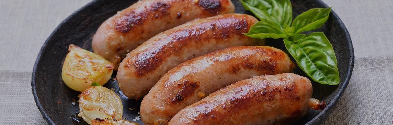 pan with sausage