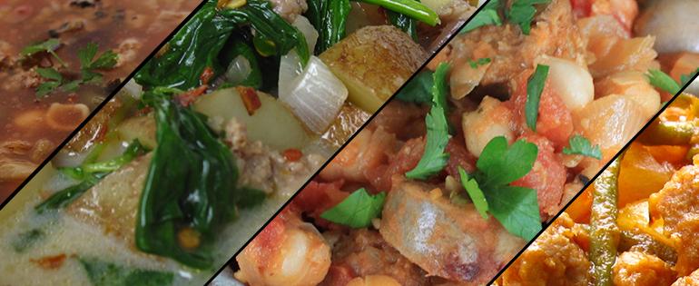 sausage soups and stews