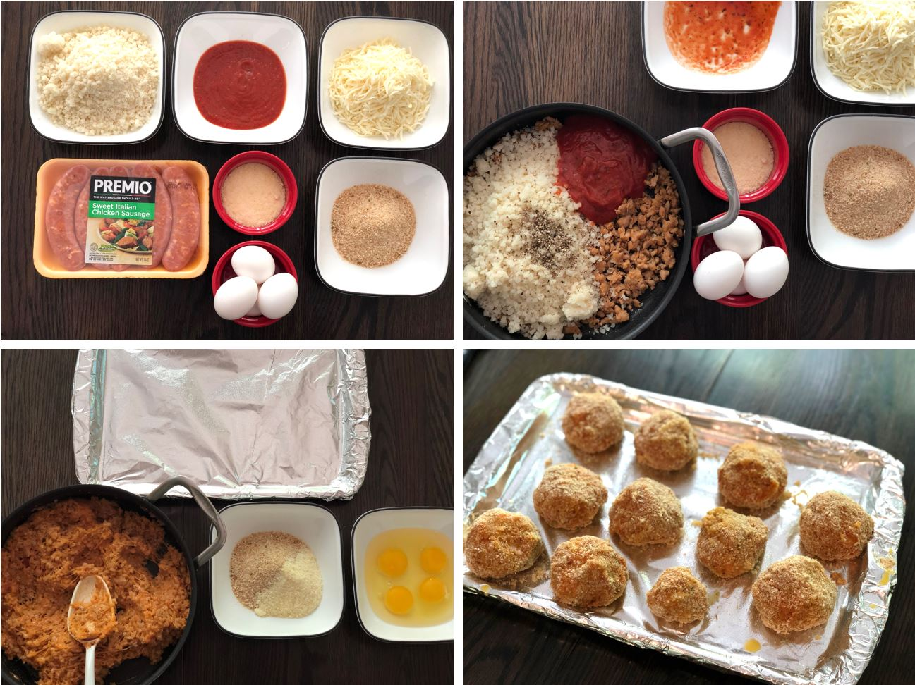 Cauliflower Rice and Balls Step by Step Recipe