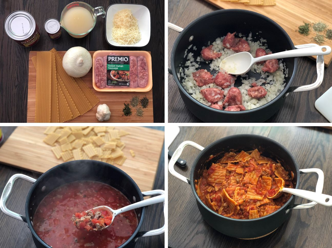 One-Pot Lasagna Soup Step by Step Recipe